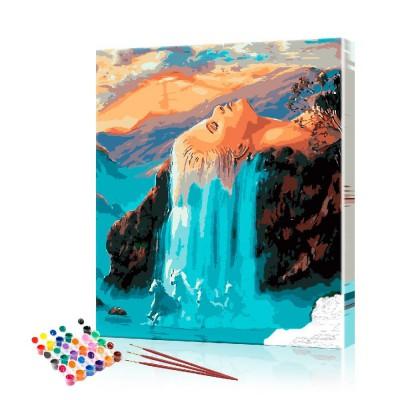 Картина по номерам Водопад ArtSale размер 40х50 см