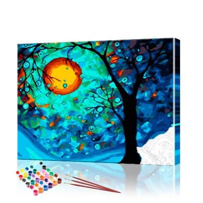 Картина по номерам Дерево ArtSale размер 40х50 см