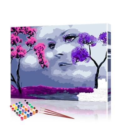 Картина по номерам Лицо в облаках ArtSale размер 40х50 см