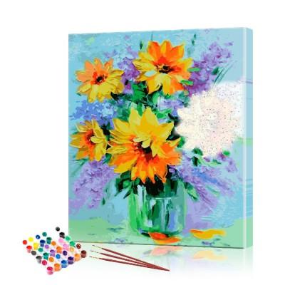 Картина по номерам Подсолнухи ArtSale размер 30х40 см
