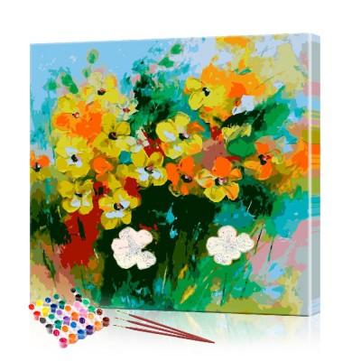 Картина по номерам Полевые цветы ArtSale размер 40х40 см