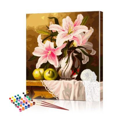 Картина по номерам Цветы ArtSale размер 40х50 см