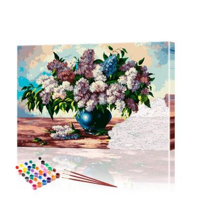 Картина по номерам Сирень ArtSale размер 40х60 см