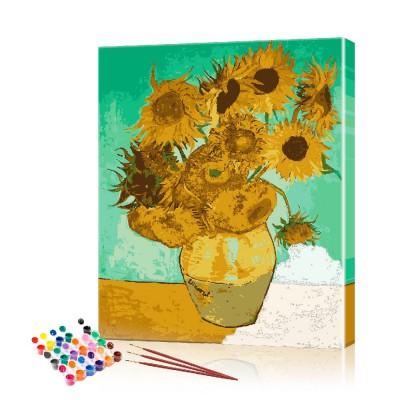 Картина по номерам Подсолнухи ArtSale размер 40х60 см