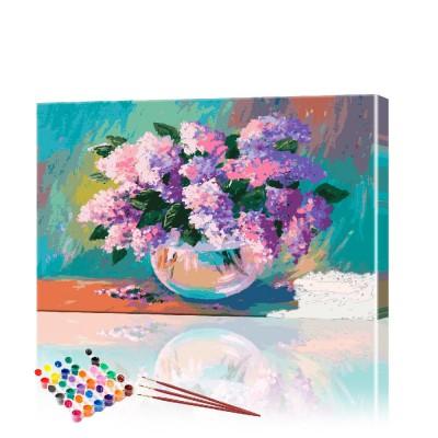 Картина по номерам Сирень ArtSale размер 40х70 см