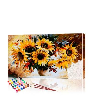 Картина по номерам Подсолнухи ArtSale размер 40х70 см