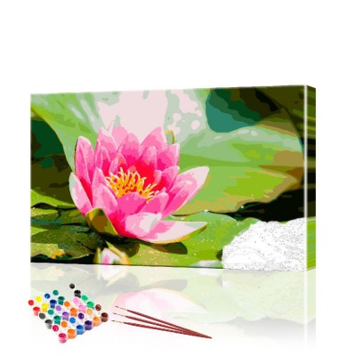Картина по номерам Цветы ArtSale размер 40х60 см
