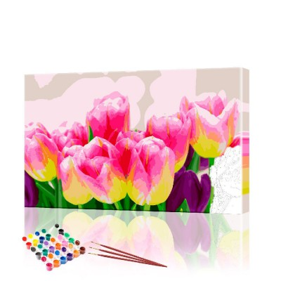 Картина по номерам Тюльпаны ArtSale размер 40х60 см