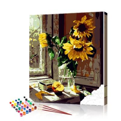 Картина по номерам Подсолнухи ArtSale размер 40х50 см