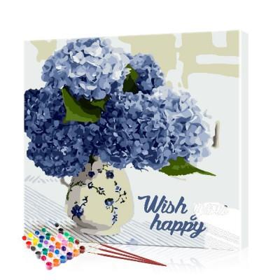 Картина по номерам Цветы ArtSale размер 40х40 см