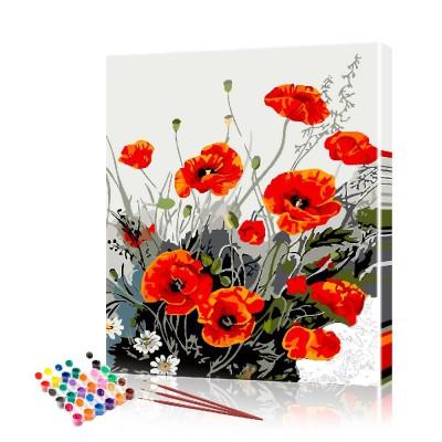 Картина по номерам Маки ArtSale размер 40х50 см