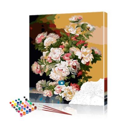 Картина по номерам Пионы ArtSale размер 40х50 см