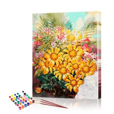 Картина по номерам Ромашки ArtSale размер 40х60 см