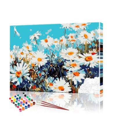 Картина по номерам Ромашки ArtSale размер 40х50 см