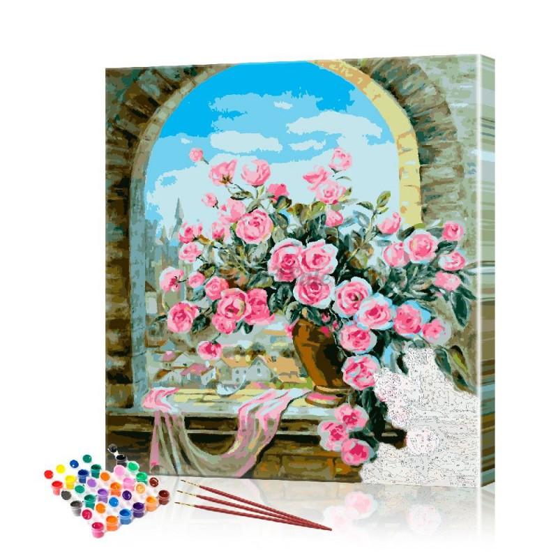 Картина по номерам Розы ArtSale размер 40х40 см