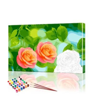 Картина по номерам Розы ArtSale размер 40х60 см