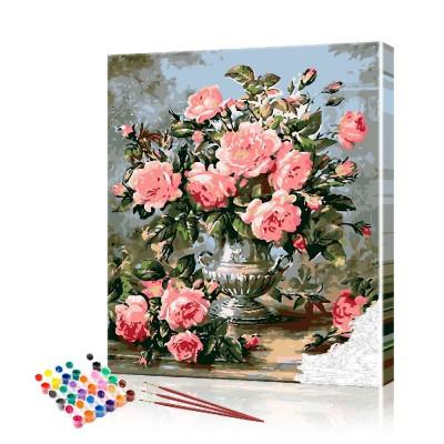 Картина по номерам Розы ArtSale размер 40х50 см