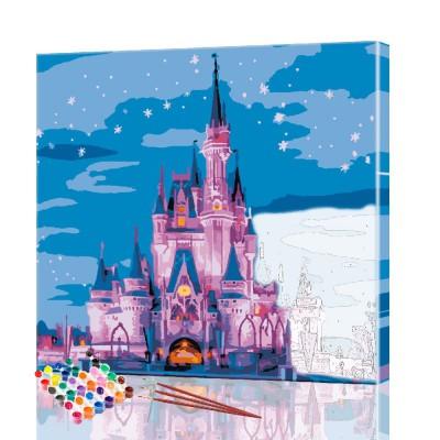 Картина по номерам Замок ArtSale размер 30х30 см