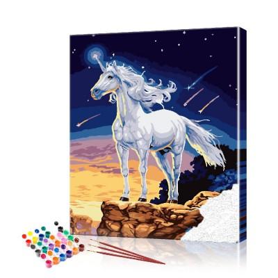Картина по номерам Единорог ArtSale размер 40х50 см