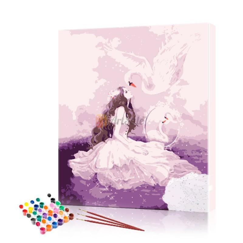 Картина по номерам Ангел ArtSale размер 40х50 см