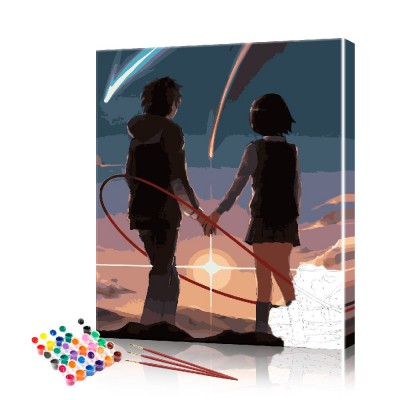Картина по номерам Аниме - пара ArtSale размер 40х50 см