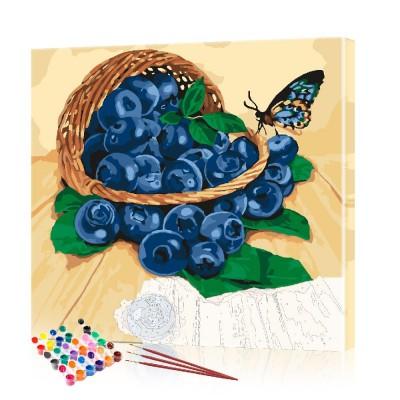 Картина по номерам Фрукты ArtSale размер 40х40 см
