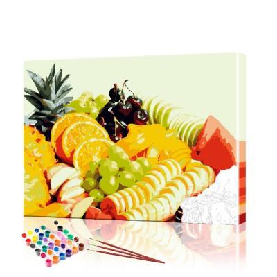 Картина по номерам Фрукты ArtSale размер 40х50 см