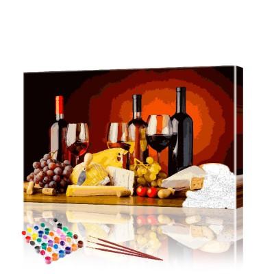 Картина по номерам Вино ArtSale размер 40х60 см