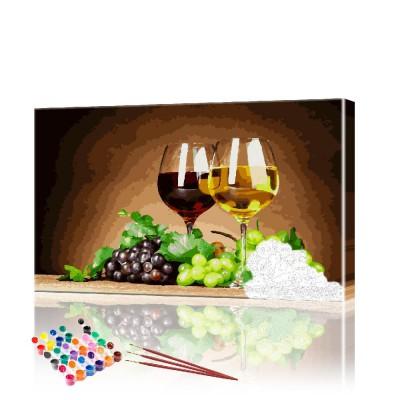 Картина по номерам Вино ArtSale размер 40х70 см