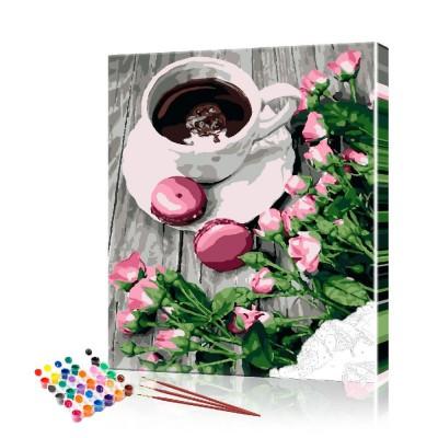 Картина по номерам Кофе ArtSale размер 40х50 см