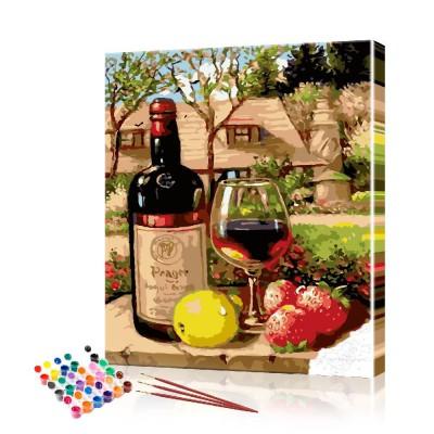 Картина по номерам Вино ArtSale размер 40х50 см