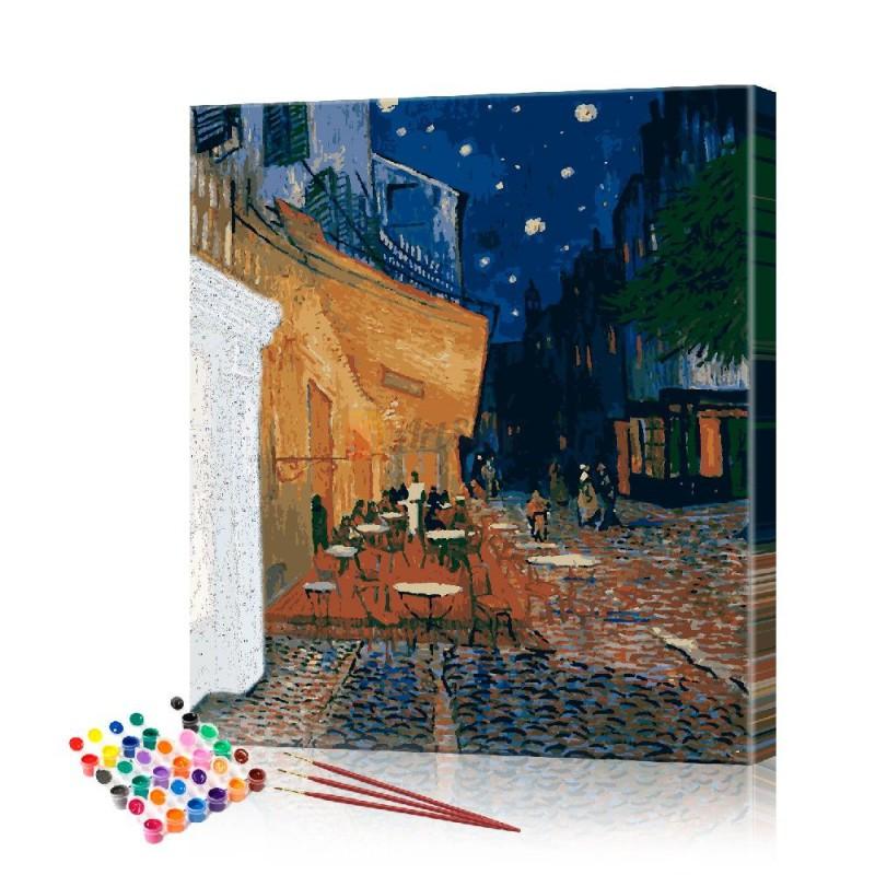Картина по номерам Кафе Ван Гог ArtSale размер 40х50 см
