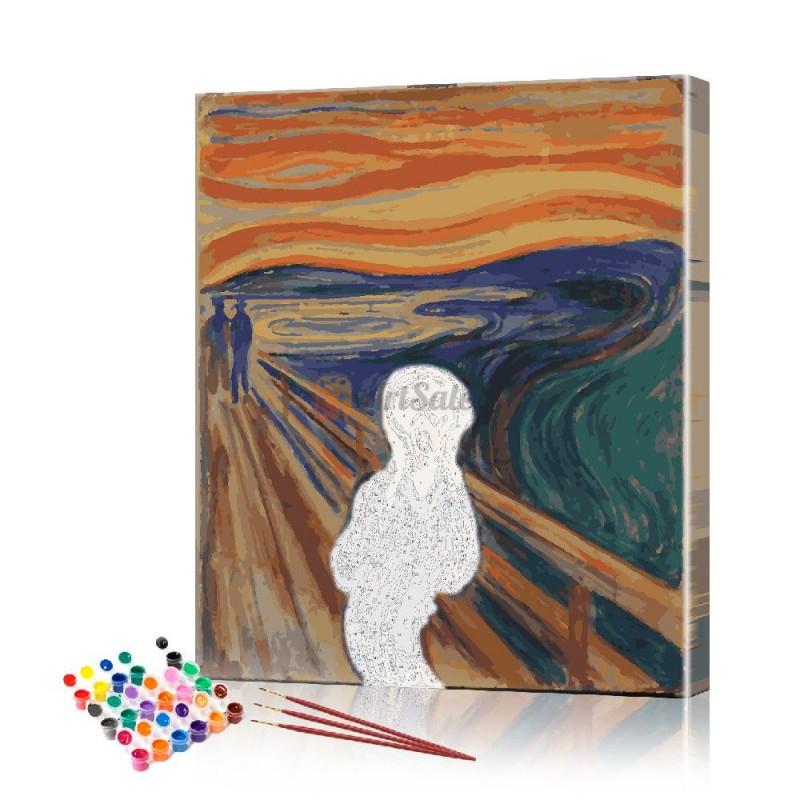 Картина по номерам Крик ArtSale размер 40х50 см