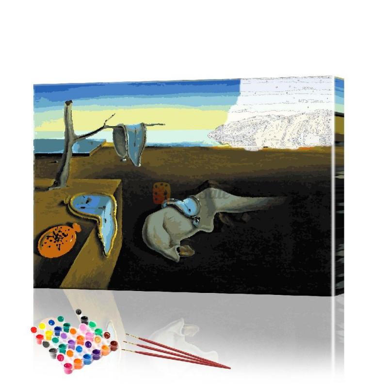 Картина по номерам Время Дали ArtSale размер 40х60 см