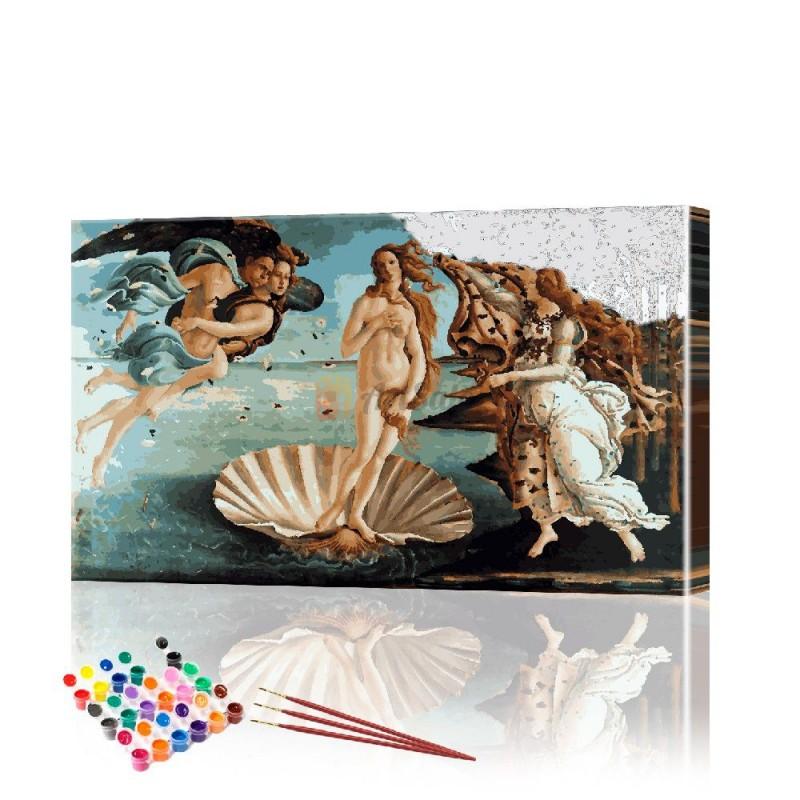 Картина по номерам Рождение Венеры ArtSale размер 40х60 см