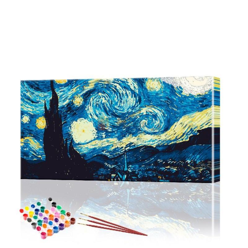 Картина по номерам Звездная ночь ArtSale размер 40х70 см