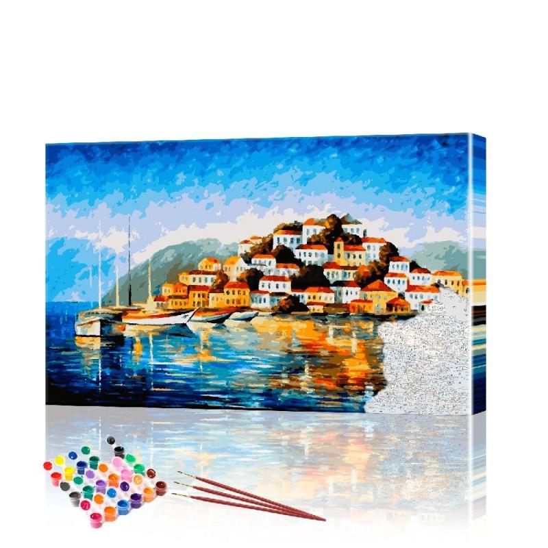Картина по номерам Залив ArtSale размер 40х70 см