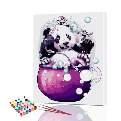 Картина по номерам Веселая панда ArtSale размер 30х40 см