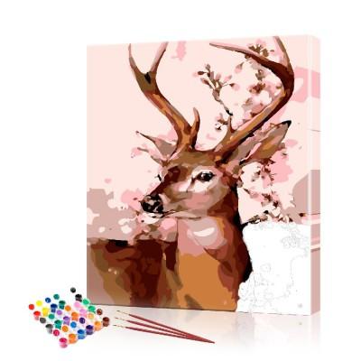 Картина по номерам Косуля ArtSale размер 40х50 см