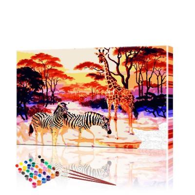 Картина по номерам Саванна ArtSale размер 40х50 см