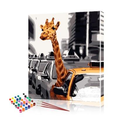 Картина по номерам Веселые жирафы ArtSale размер 40х50 см