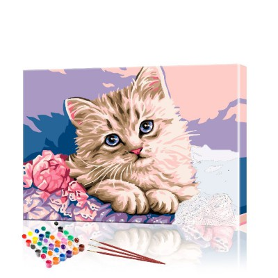 Картина по номерам Котёнок ArtSale размер 30х40 см