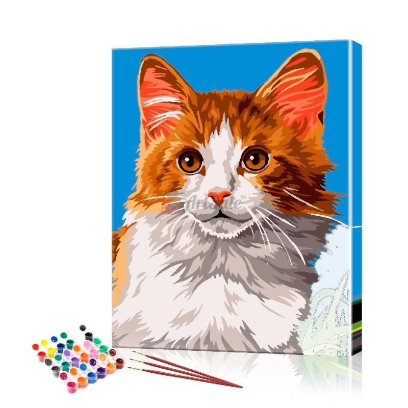Картина по номерам Рыжий кот ArtSale размер 30х40 см