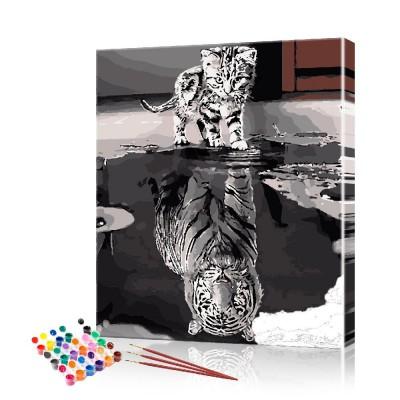 Картина по номерам Душа тигра ArtSale размер 40х50 см
