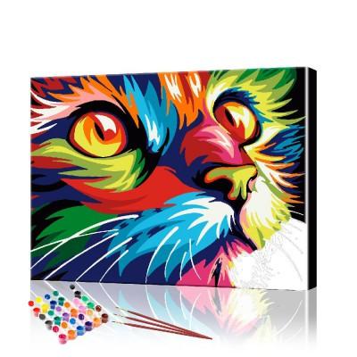 Картина по номерам Радужный кот ArtSale размер 40х50 см