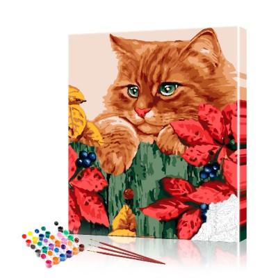 Картина по номерам Рыжий кот ArtSale размер 40х50 см
