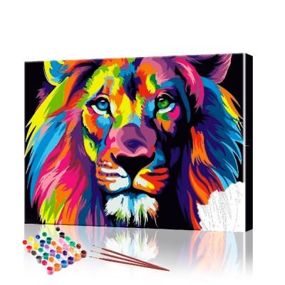Картина по номерам Радужный лев ArtSale размер 40х50 см
