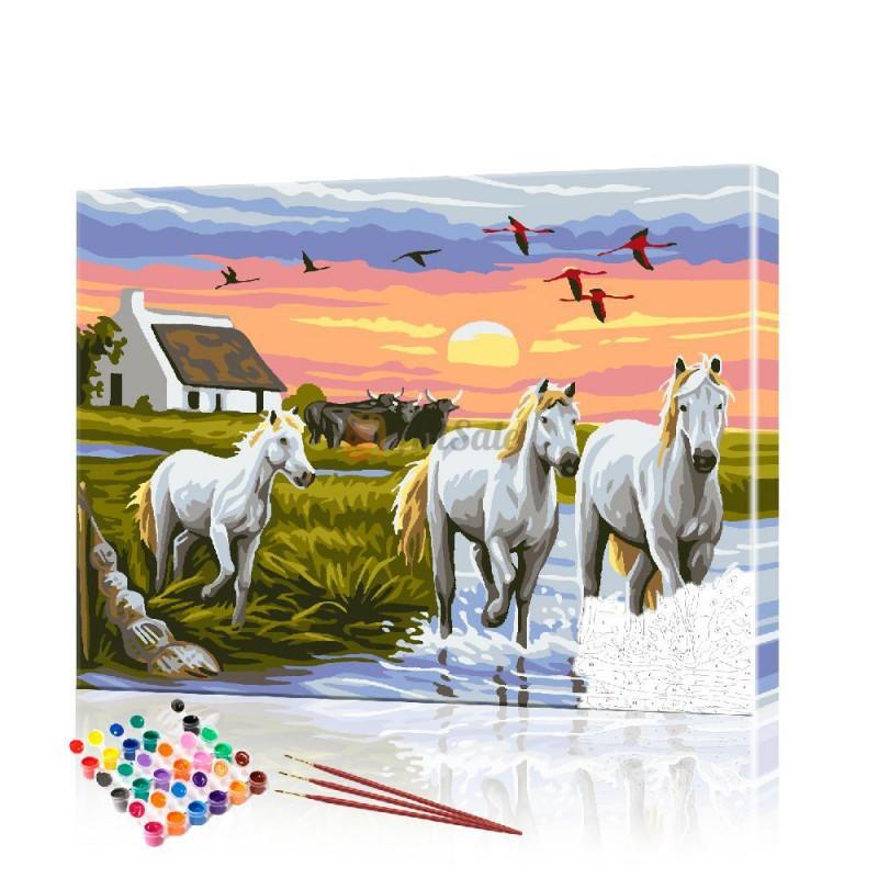 Картина по номерам Лошади ArtSale размер 40х50 см
