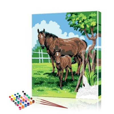 Лошади картина по номерам ArtSale размер 40х50 см