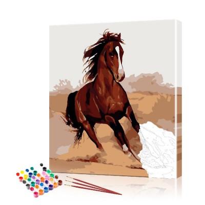 Картина по номерам Кони ArtSale размер 40х50 см